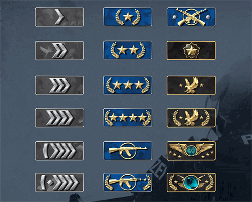 counter strike global offensive ranks